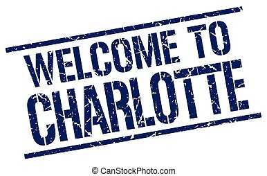 welcome to Charlotte stamp