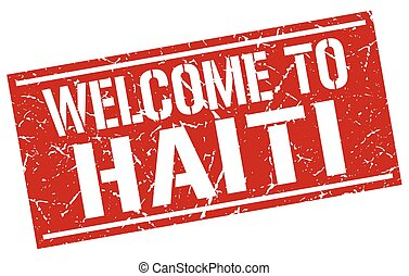 welcome to Haiti stamp