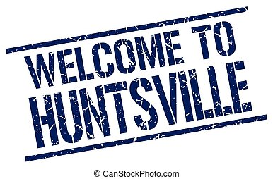 welcome to Huntsville stamp
