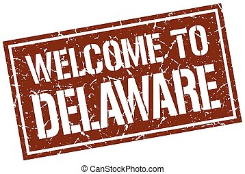 welcome to Delaware stamp