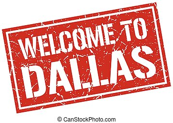 welcome to Dallas stamp