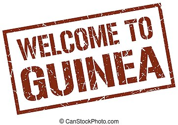 welcome to Guinea stamp