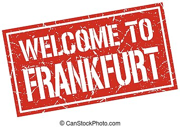welcome to Frankfurt stamp