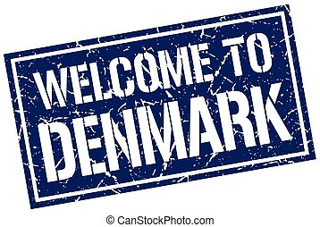 welcome to Denmark stamp