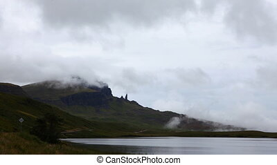 Timelapse of the Old Man of Storr, Skye in Scotland - A...