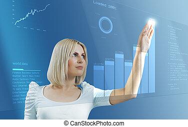 Blonde touching interface