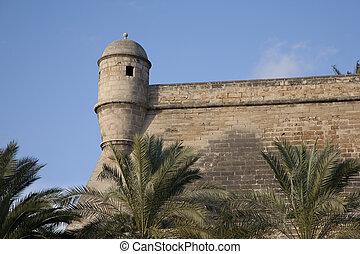 City Walls, Palma de Mallorca, Mallorca, Spain