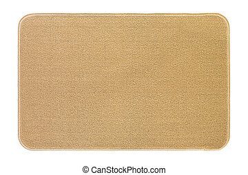 New and clean floor rug, doormat in beige color isolated on...