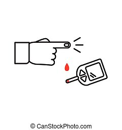 Glucometer Vector Clipart Royalty Free. 103 Glucometer clip art ...