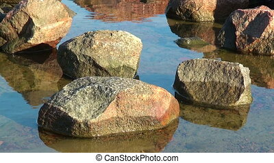 Stones at the seaside