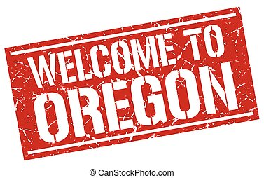 welcome to Oregon stamp