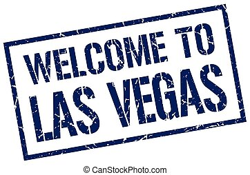 welcome to Las Vegas stamp