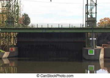 guard gate in New York's Erie Canal - A guard gate in New...