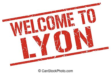 welcome to Lyon stamp