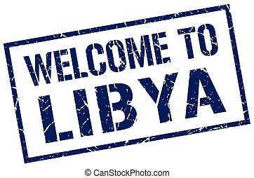 welcome to Libya stamp