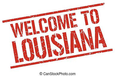 welcome to Louisiana stamp