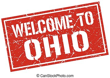 welcome to Ohio stamp