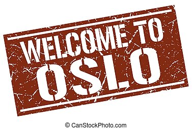 welcome to Oslo stamp