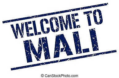 welcome to Mali stamp