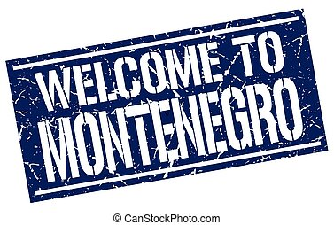 welcome to Montenegro stamp