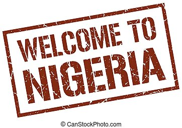welcome to Nigeria stamp