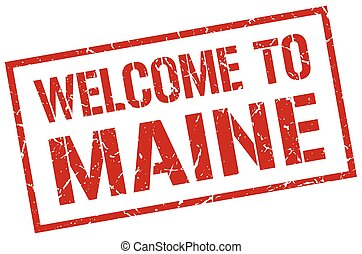 welcome to Maine stamp