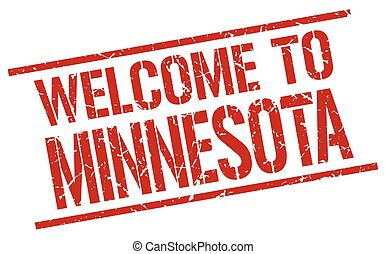 welcome to Minnesota stamp