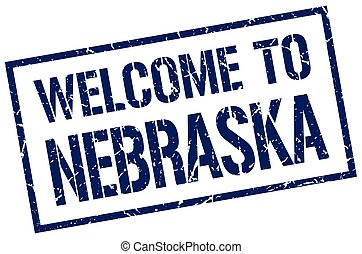 welcome to Nebraska stamp