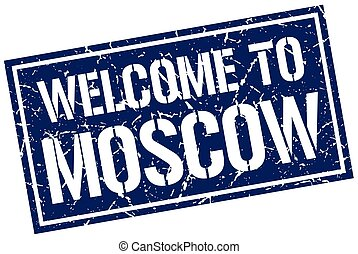 welcome to Moscow stamp