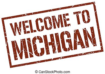 welcome to Michigan stamp