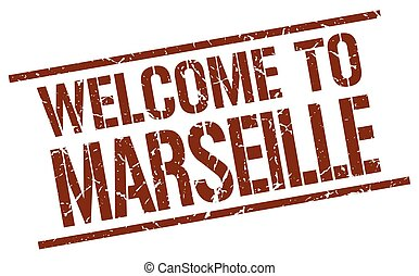 welcome to Marseille stamp
