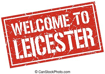 welcome to Leicester stamp