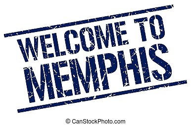 welcome to Memphis stamp