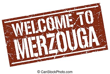 welcome to Merzouga stamp