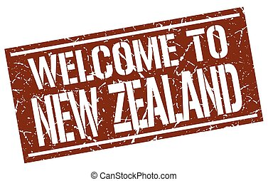 welcome to New Zealand stamp