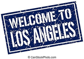 welcome to Los Angeles stamp