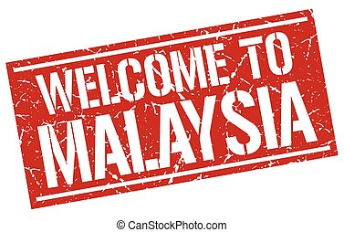 welcome to Malaysia stamp
