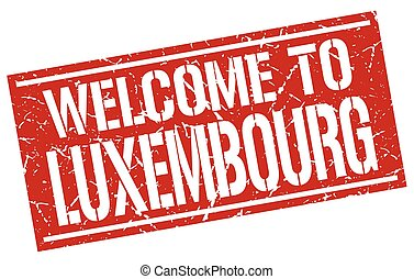 welcome to Luxembourg stamp