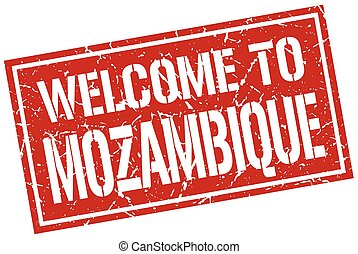 welcome to Mozambique stamp