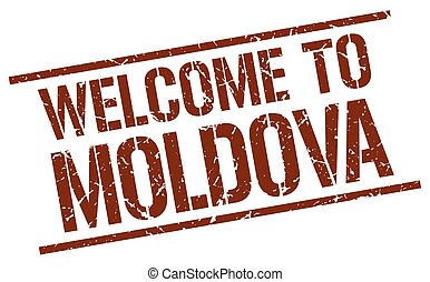 welcome to Moldova stamp