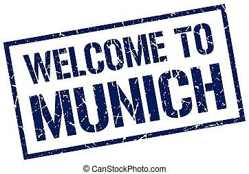 welcome to Munich stamp