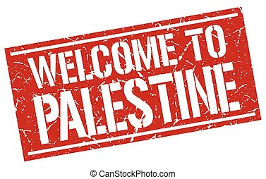 welcome to Palestine stamp