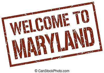 welcome to Maryland stamp