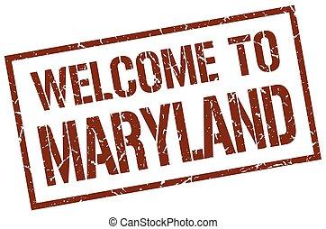 francobollo,  Maryland, benvenuto
