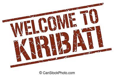 welcome to Kiribati stamp