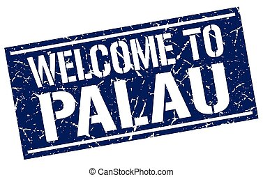 welcome to Palau stamp