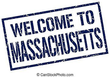 welcome to Massachusetts stamp