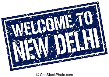 welcome to New Delhi stamp