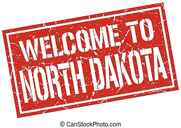 welcome to North Dakota stamp