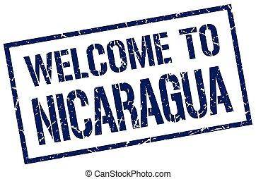 welcome to Nicaragua stamp